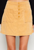 Carter Corduroy Mini Skirt - Mustard