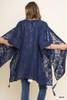 Tessa Open Sheer Kimono - Navy
