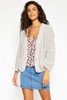 Chunky Knit Cardigan - Grey
