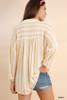 Sarah Striped Collared Tunic - Honey