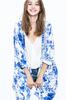 Evelin Lace Kimono - White/Blue