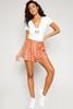 Sunny Pleats Shorts - Coral