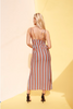 Stripey Loose Fit Maxi Dress - Multi-Colors