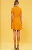 Selina Frill Wrap Dress - Mustard