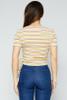Harmony Stripe Wrap Top - Yellow / White / Green / Red Stripes