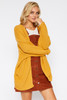 Dolman Sleeve Cardigan - Honey Yellow