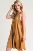Lace Washed Dress - Caramel