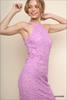 Floral Crochet Halter Dress - Lavender