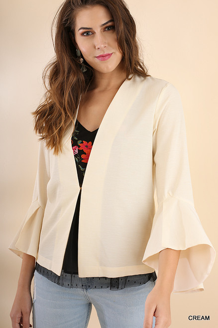 Bell Sleeve Light Jacket - Cream