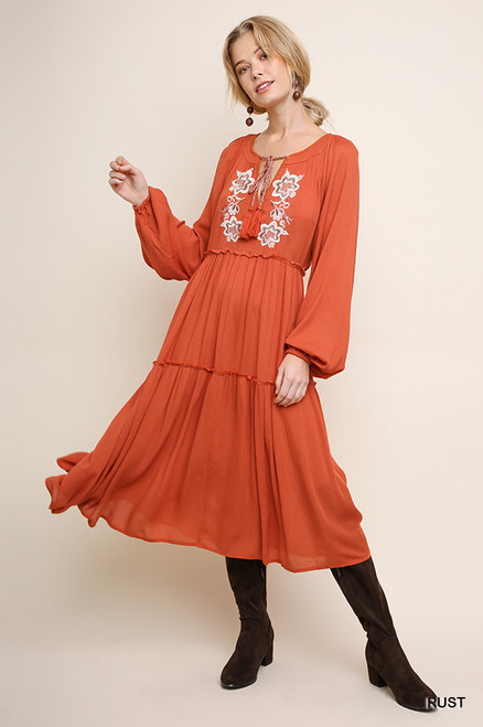 Matilda Maxi Dress - Rust
