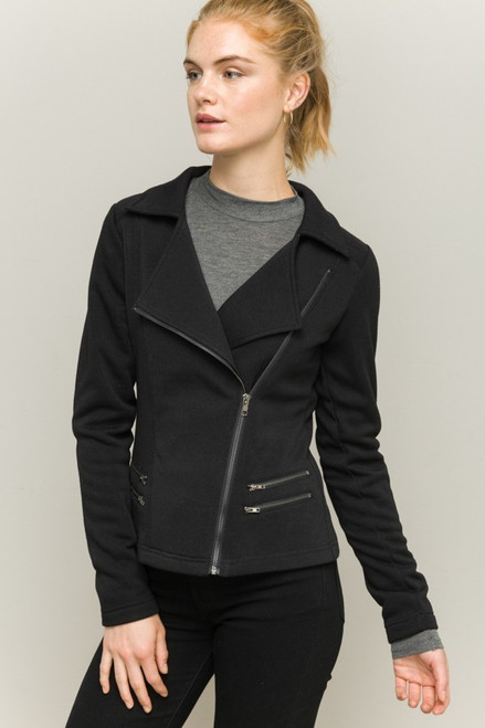 Valerie Biker Jacket - Black