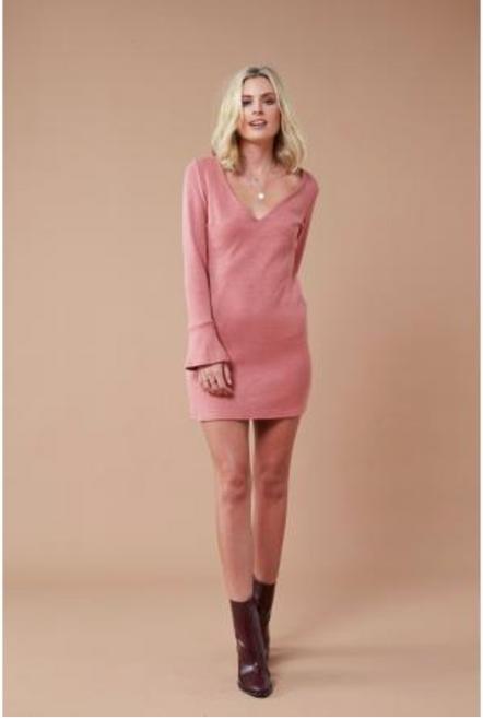 Sweetness Knit Dress - Wine
