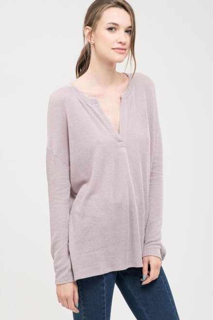 Nelly Knit Top - Lavender