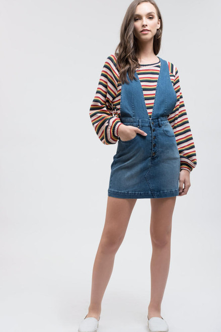 Danika Denim Dress - Blue