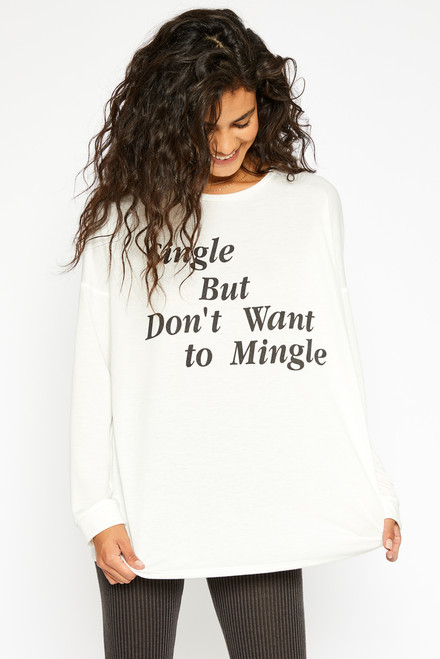 Single Mingle Top - White
