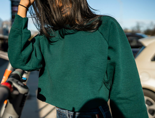 Cotone Vintage - Wally Green Sweatshirt - Green