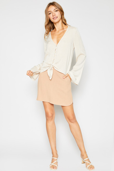 Ruby Tie Know Top - Natural White