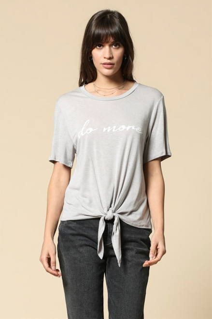 Do More Graphic Tee - Grey