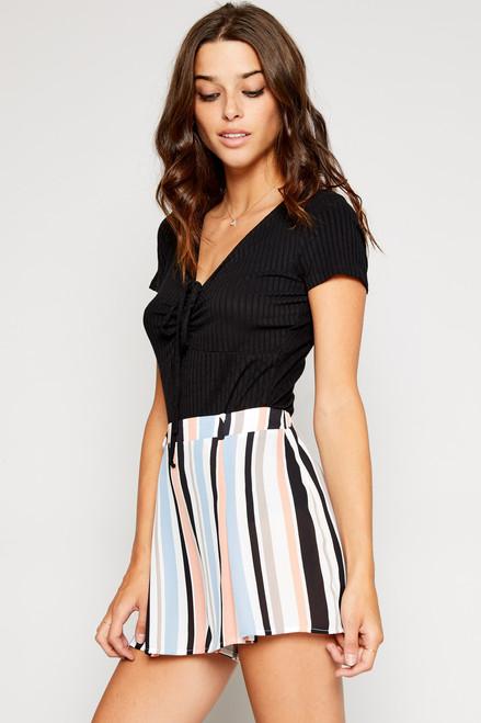 Natalie Stripe Shorts - Multi