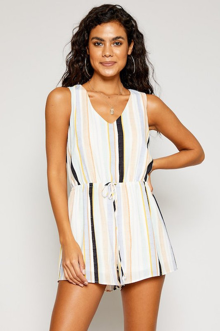 Morning Mist Stripe Romper - Multi Color