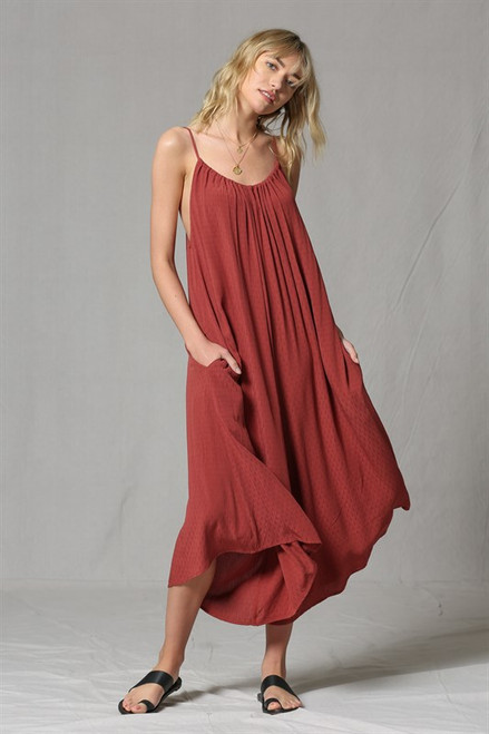 Gloria Sleeveless Jumpsuit - Red Sienna