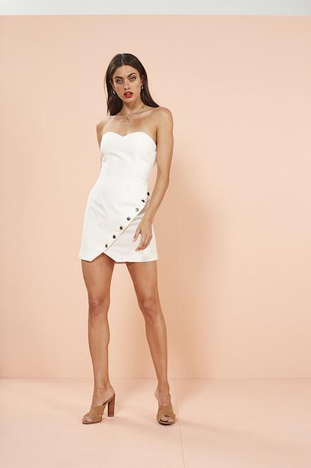 No Drama Strapless Mini Dress - White