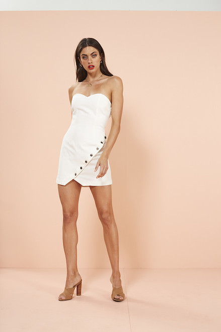 No Drama Strapless Mini Dress - White