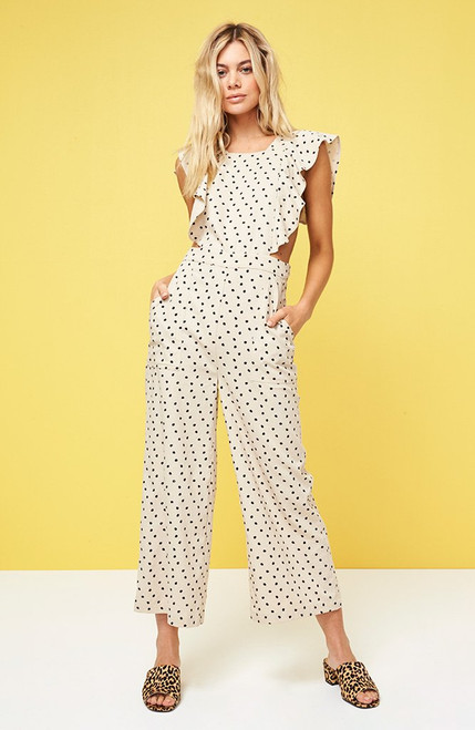 Pip Ruffle Jumpsuit - Natural White