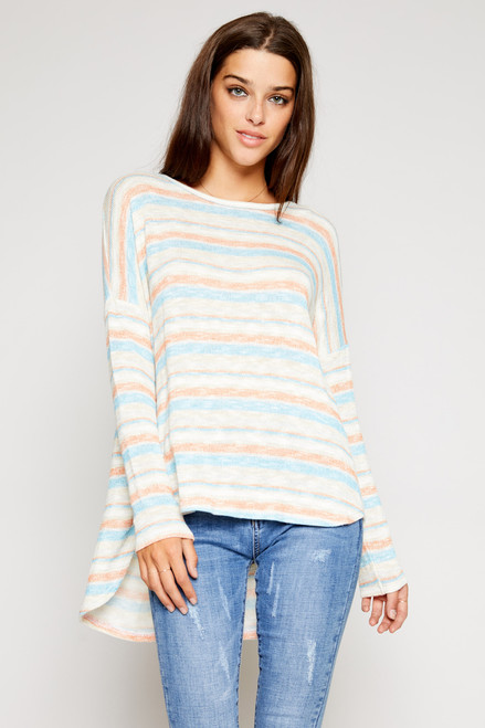 Color Blocker Knit Top - Multi Colors