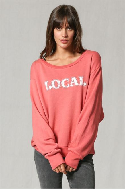 Local Graphic Sweatshirt Top - Sienna/Pink