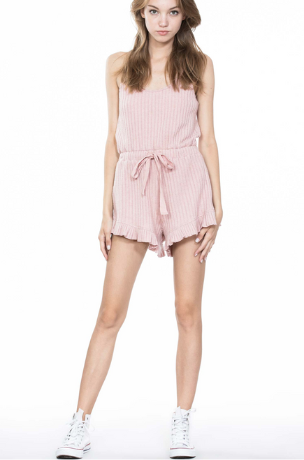 Dusty Pink Sleeveless Romper - Pink