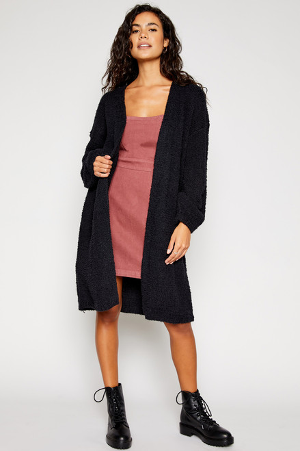Maria Oversized Cardigan - Black