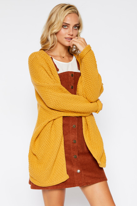 Dolman Sleeve Cardigan - Honey Yellow