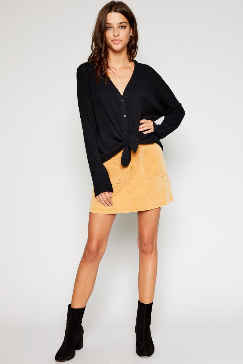 e95295183 Sadie & Sage - Carter Corduroy Mini Skirt - Mustard