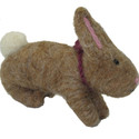 Felted Wool Ornament Rabbit Light Brown