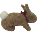 Felted Wool Ornament Rabbit Light Brown alt