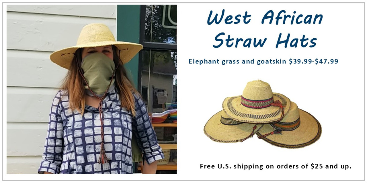 African straw hats