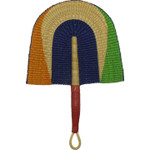 African Bolga Fan With Leather Handle #1