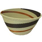 African Zulu Telephone Wire Basket #3