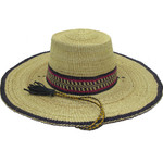 """African Straw Hat with Chin Strap #7-Fits 21""""-22"""" Head"""