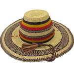 """African Straw Hat with Chin Strap #11-Fits 22""""-23"""" Head"""
