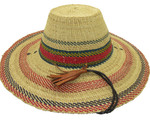 """African Straw Hat with Chin Strap #13-Fits 22""""-23"""" Head"""
