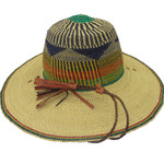 """African Straw Hat with Chin Strap #16-Fits  20""""-21"""" Head"""