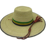"""African Straw Hat with Chin Strap #17-Fits 19 1/2""""-20 1/2"""" Head"""