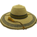 """African Straw Hat with Chin Strap #20-Fits 23""""-24"""" Head"""