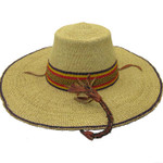 """African Straw Hat with Chin Strap #25-Fits 21""""-22"""" Head"""