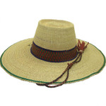 "African Straw Hat with Chin Strap #34-Fits 20""-21"" Head"