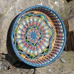 Pine Needle Basket Rosenda outside
