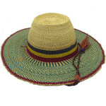 """African Straw Hat with Chin Strap #48-Fits 22""""-23"""" Head"""