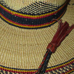 """African Straw Hat with Chin Strap #49-Fits 21""""-22"""" Head alt"""